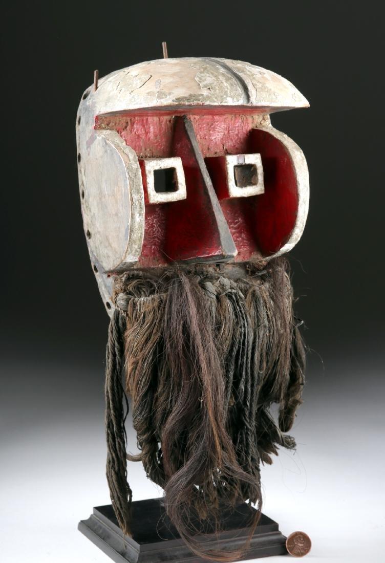 20th C. Dan Painted Wood Kagle Mask