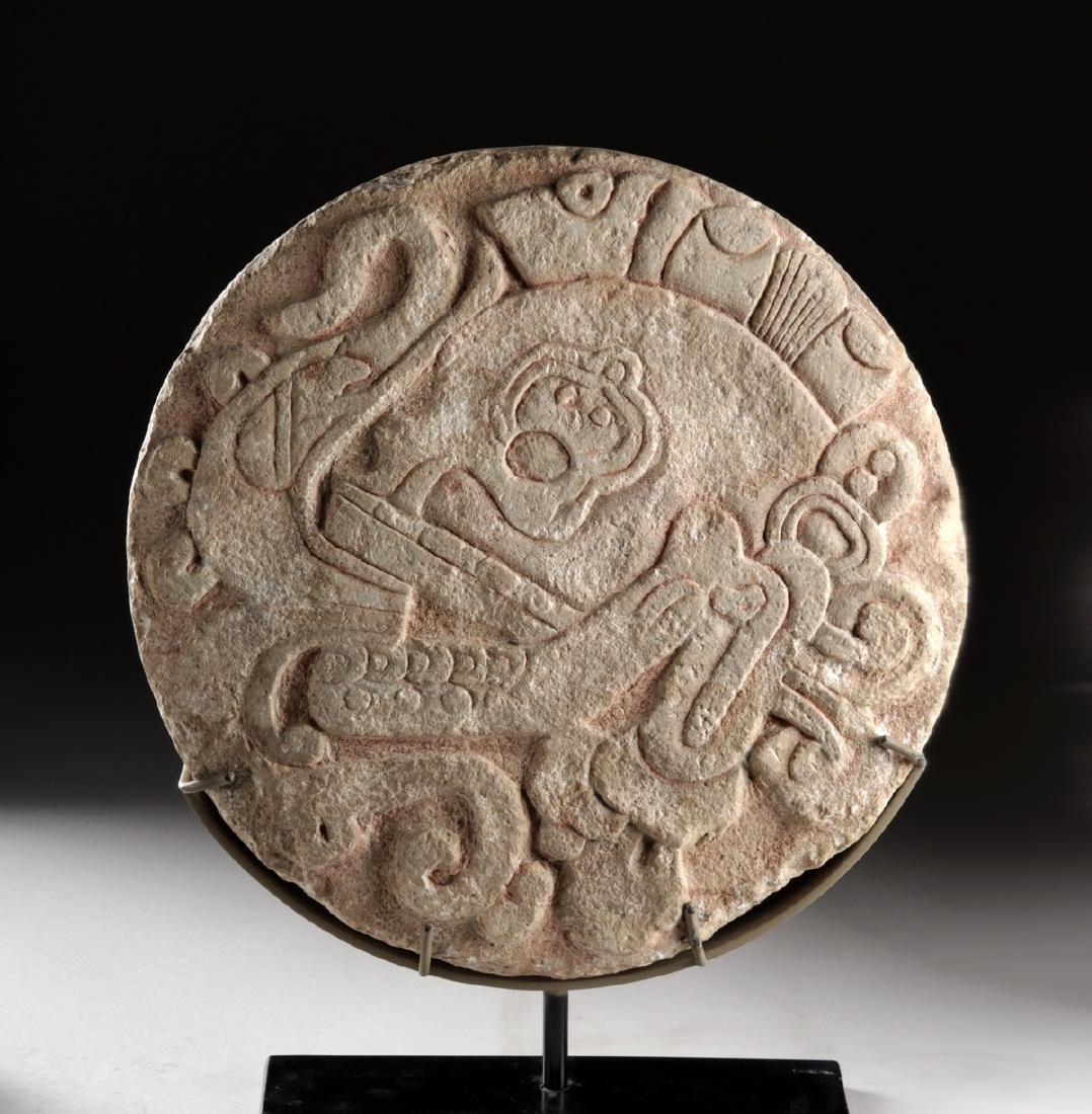 Maya Stone Ball Court Marker - ex LA County Museum