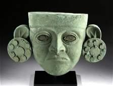Fine Moche Copper Mask w/ Large Ear Spools w/ XRF