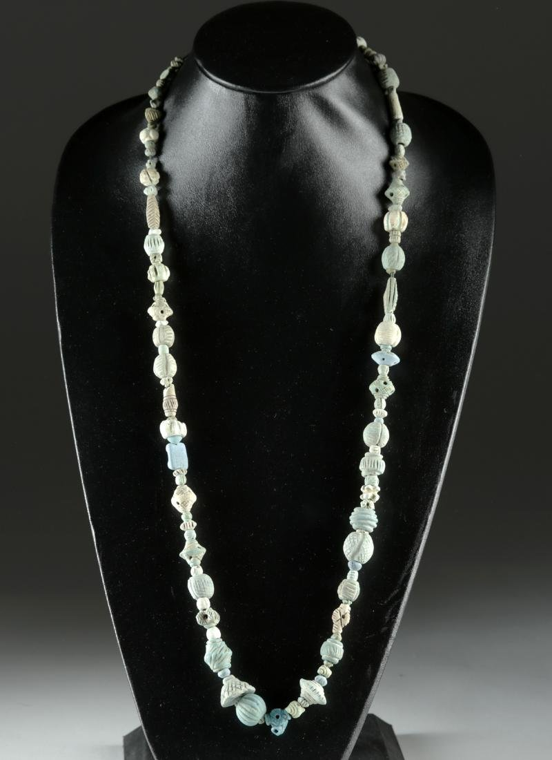 Beautiful Sumerian Faience Bead Necklace