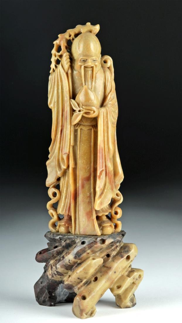 20th C. Chinese Soapstone Sculpture - God of Wisdom