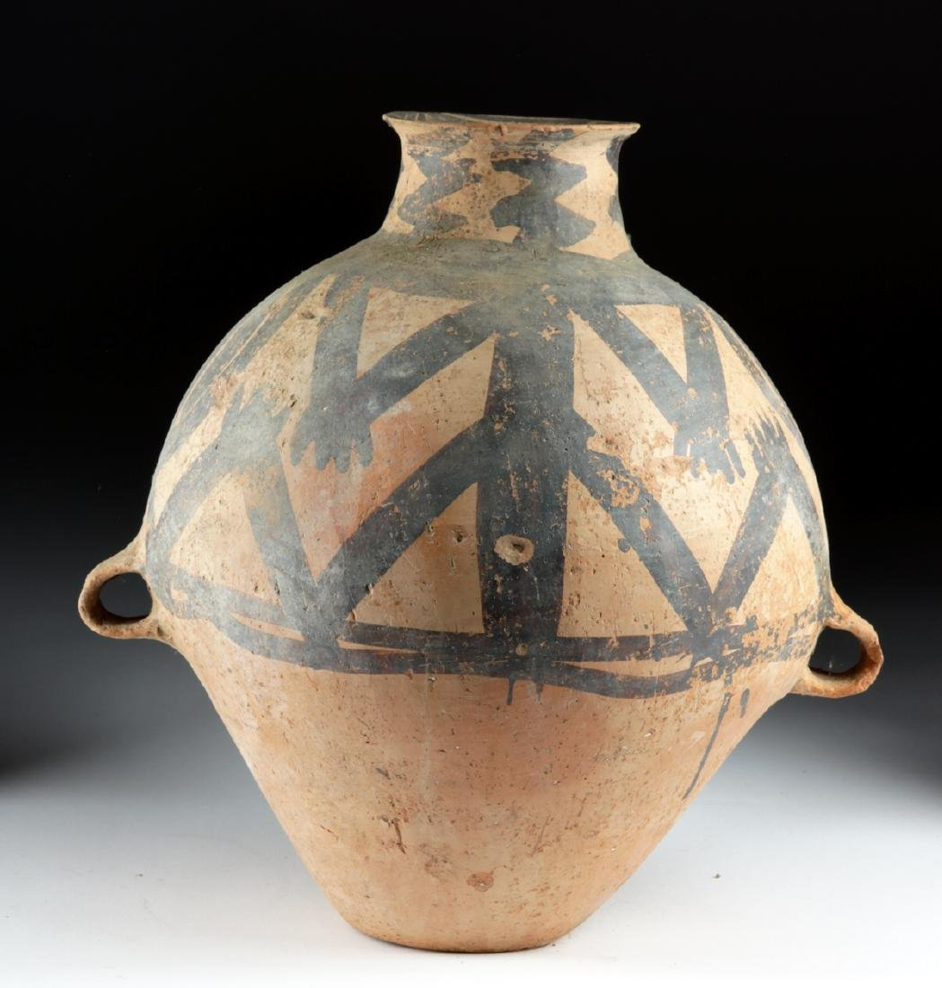 Large Chinese Neolithic Terracotta Painted Vessel
