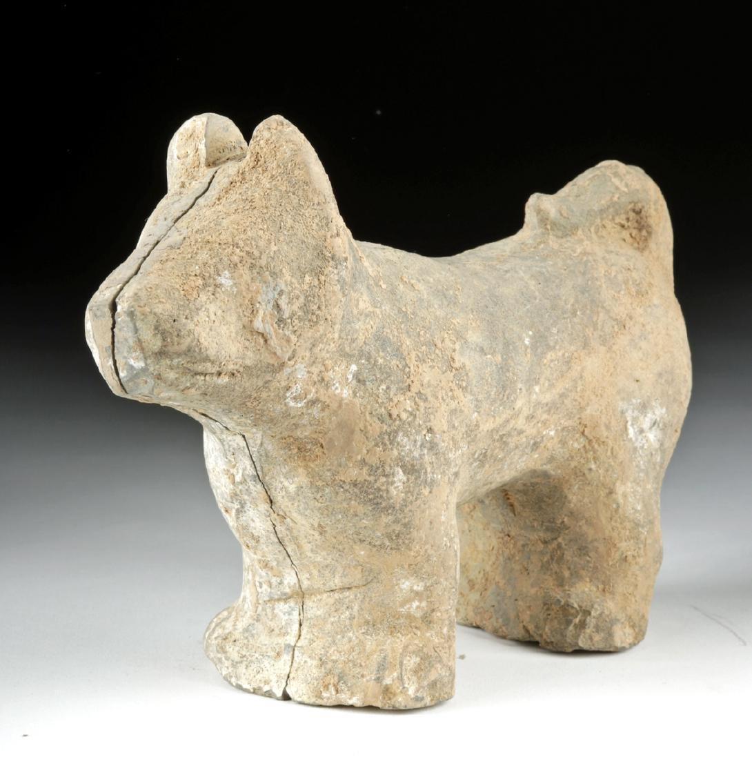 Cute Han Dynasty Pottery Dog
