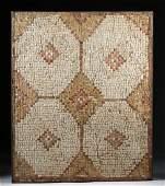 Roman Stone Mosaic with Geometric Design