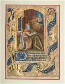 Otto Ege Illuminated Manuscript Leaf  ca 14th c