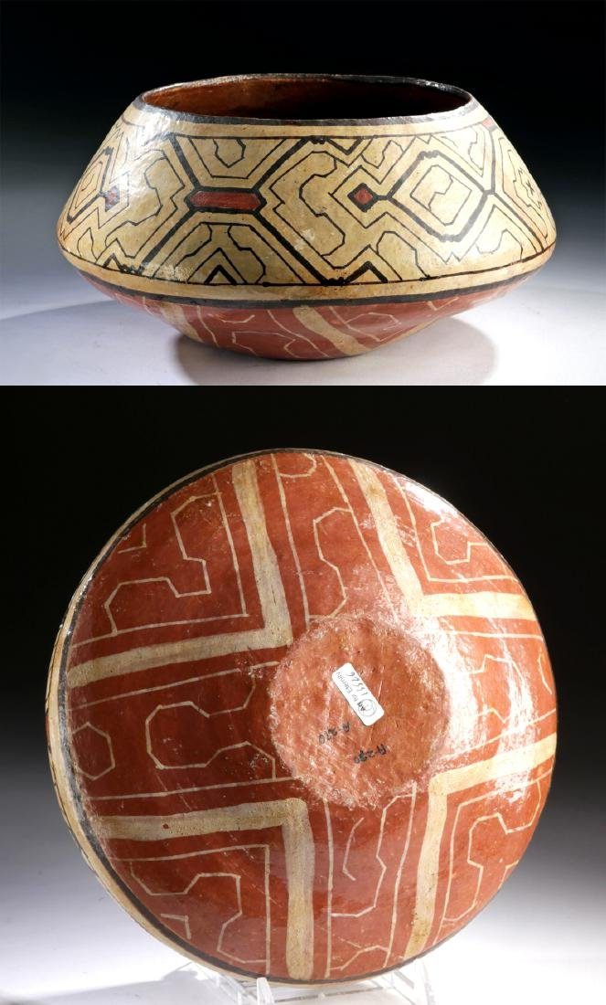 20th C. Peru Shipibo Polychrome Vessel