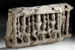 10th C Indian Stone Relief Carving  Vishnu  Yakshi