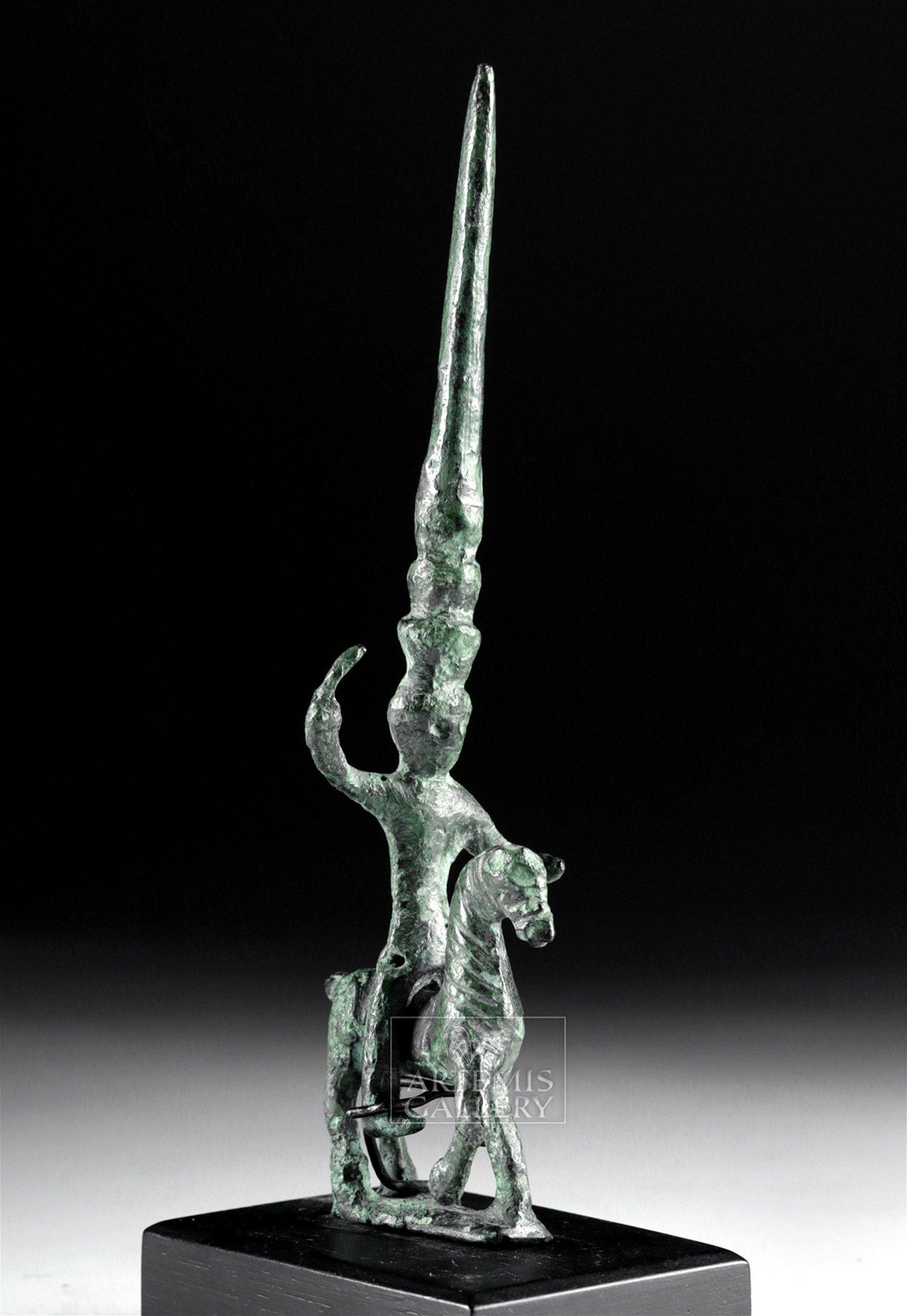 Exhibited Anatolian Hittite Bronze Horse and Rider