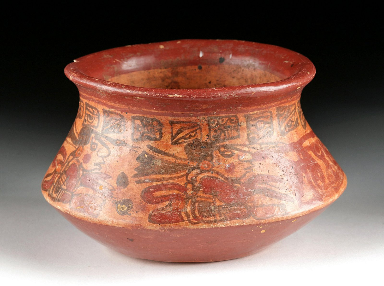 Maya Copador Pottery Vessel - Dog & Scribes