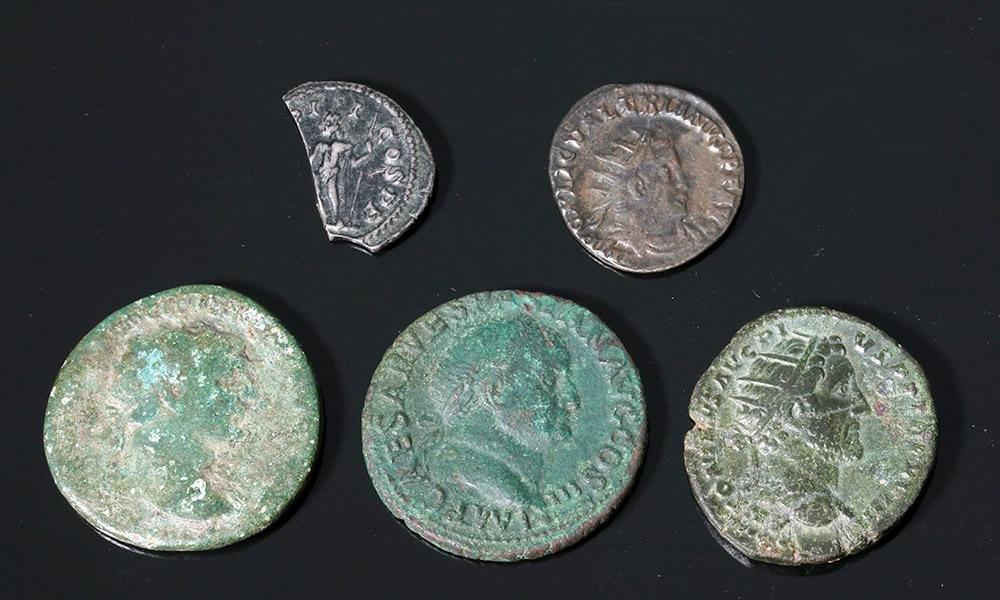 Roman Coin Lot - Bronze + 1-1/2 Silver - Hadrian