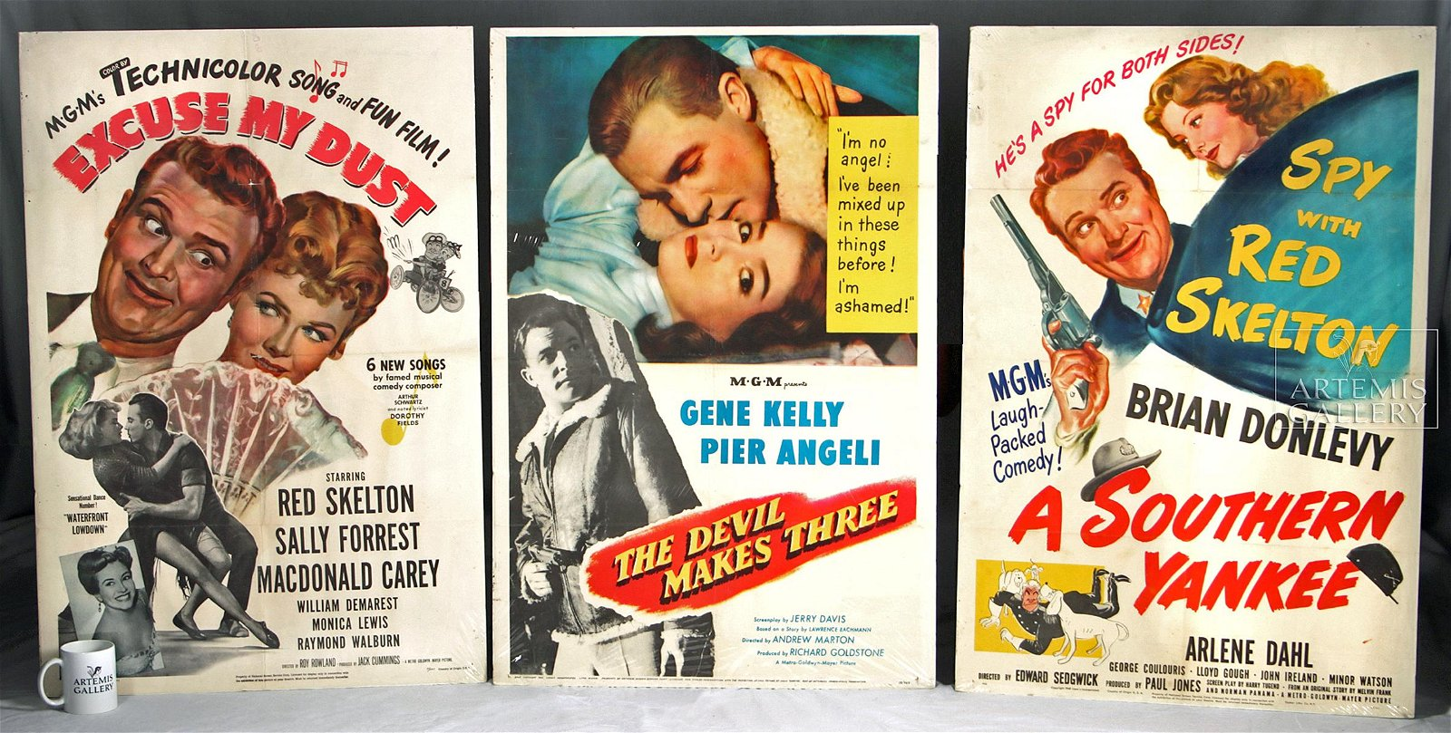 Lot of 3 Mid-20th Century Vintage Movie Posters