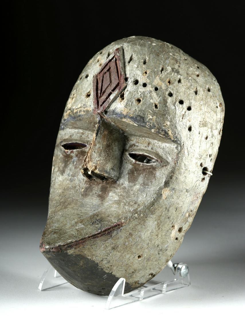 Mid-20th C. Igbo Afikpo Painted Wood Dance Mask