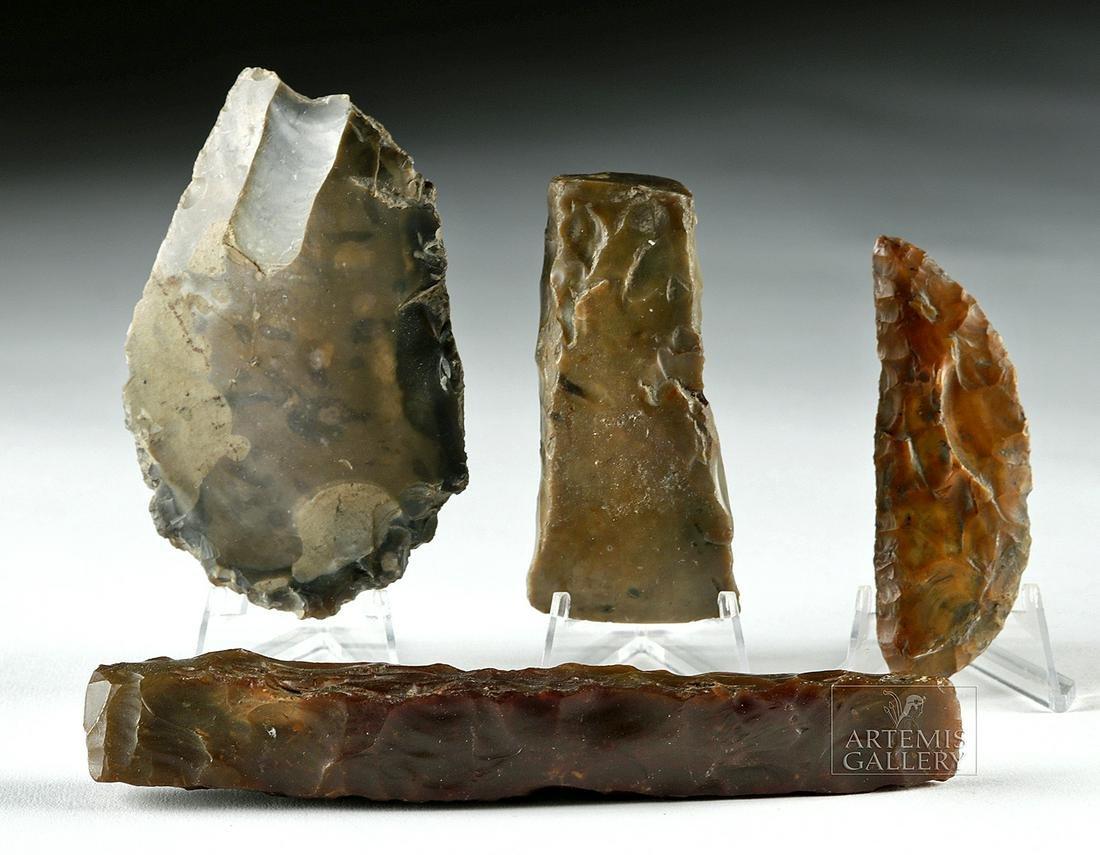 Lot of 4 Danish Neolithic Stone Tools