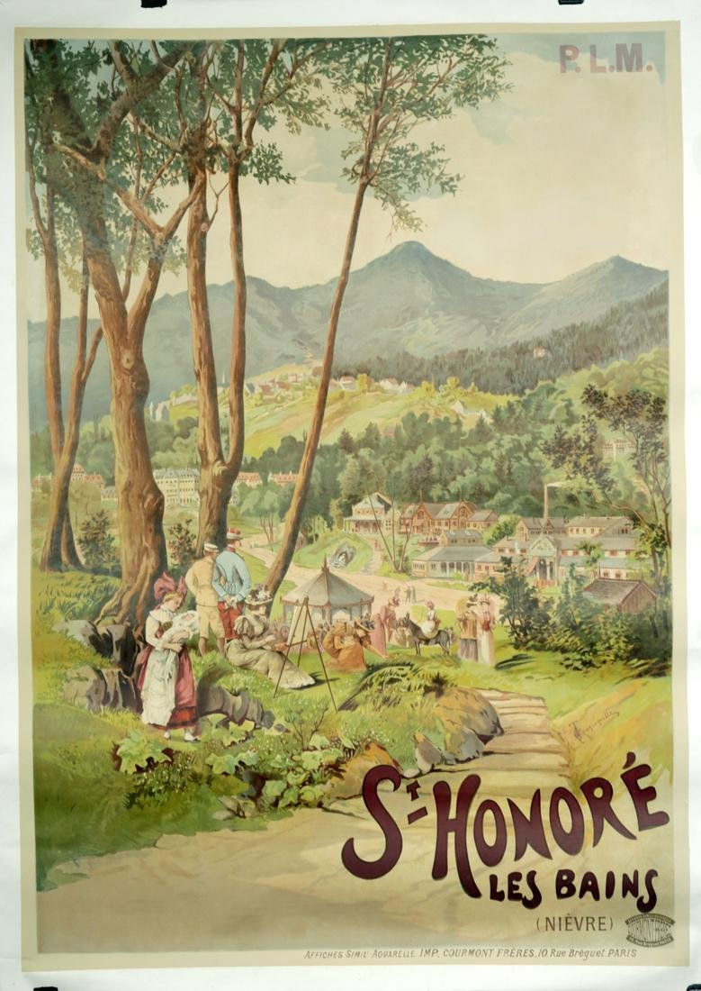 """French PLM Poster """"St. Honore Les Bains"""" - ca. 1895"""