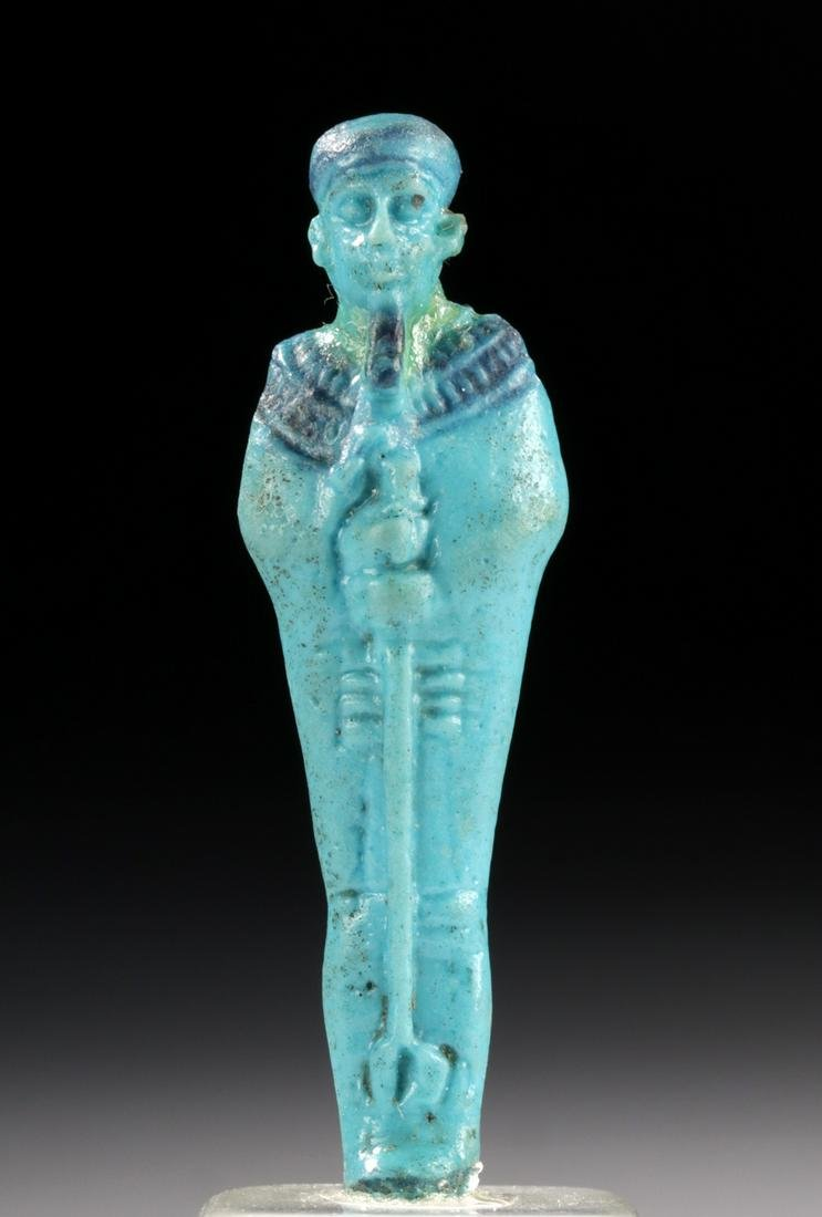Egyptian Glazed Faience Amulet of Ptah, ex Christie's