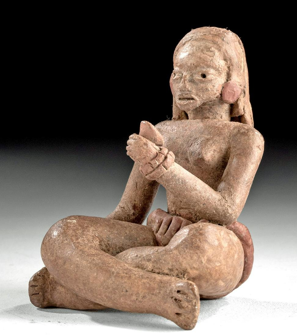 Guerrero Xalitla Pottery Seated Female Venus Figure