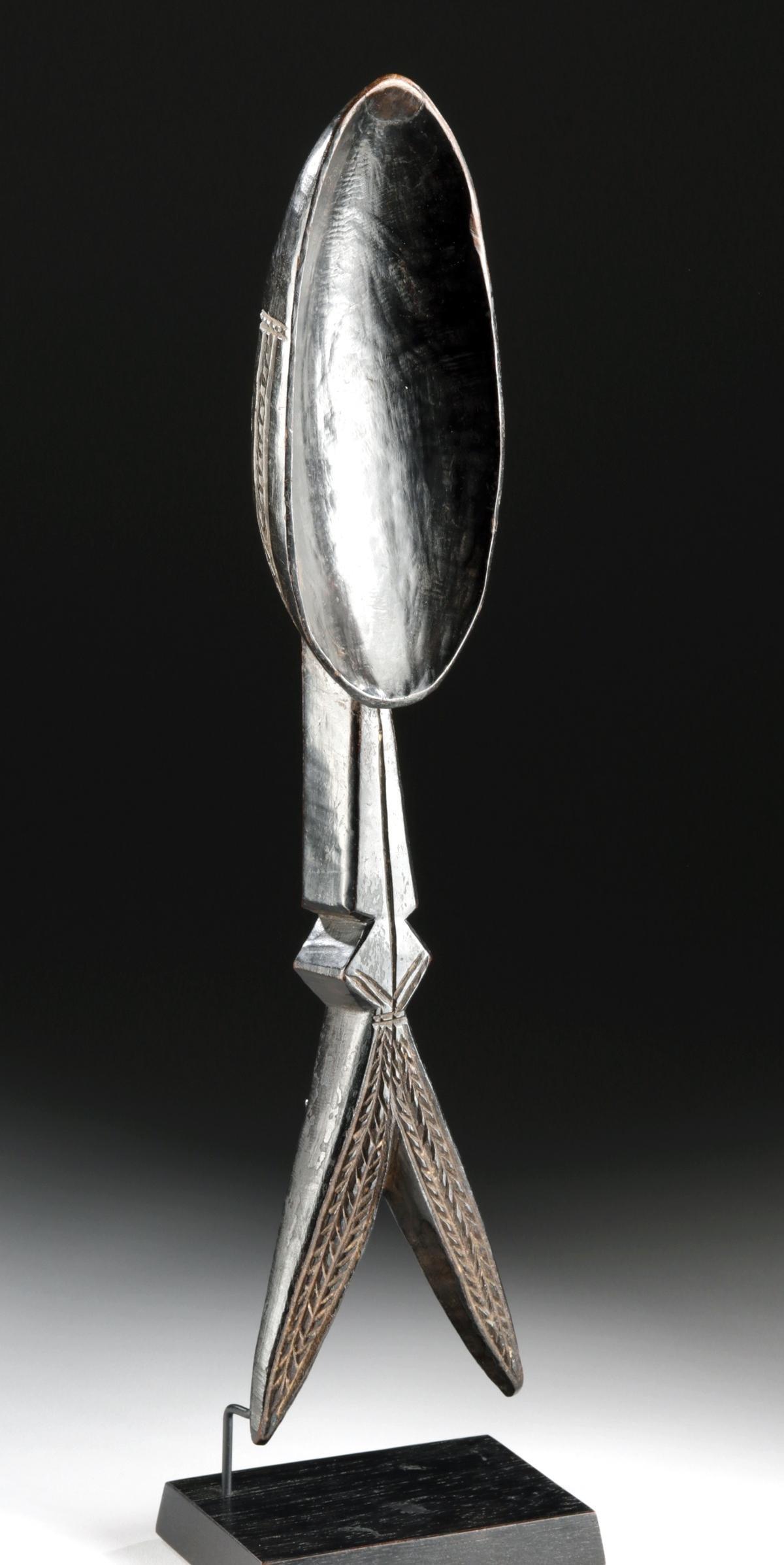 Early 20th C. African Dan Wood Ladle (Wakemia)