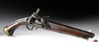 18th C Spanish Colonial Presidio Flintlock Pistol