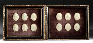 19th C. Italian Plaster Intaglios - 12 Roman Caesars