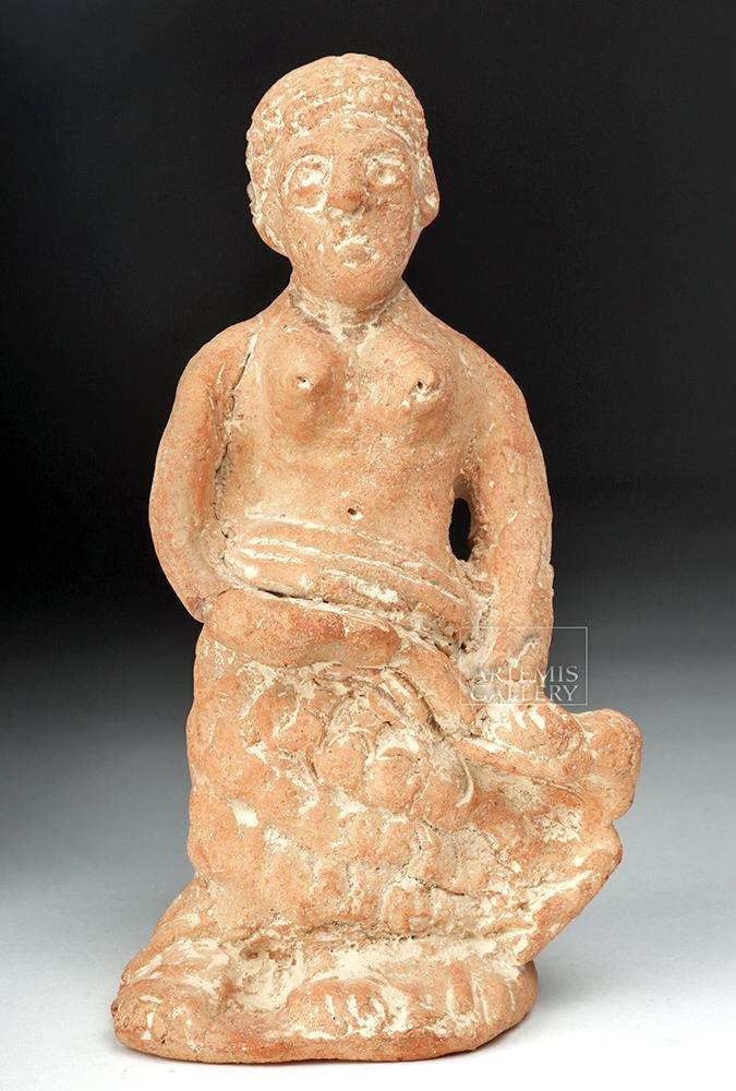 Romano-Egyptian Terracotta Statuette - Seated Woman