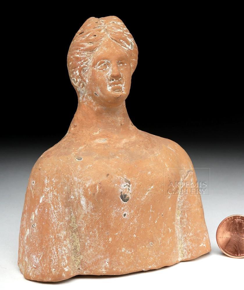 Greek Terracotta Protome Bust of Demeter