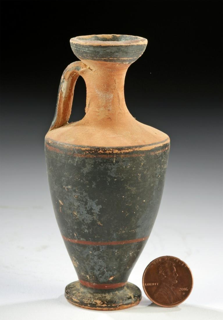 Near-Miniature Greek Attic Pottery Lekythos