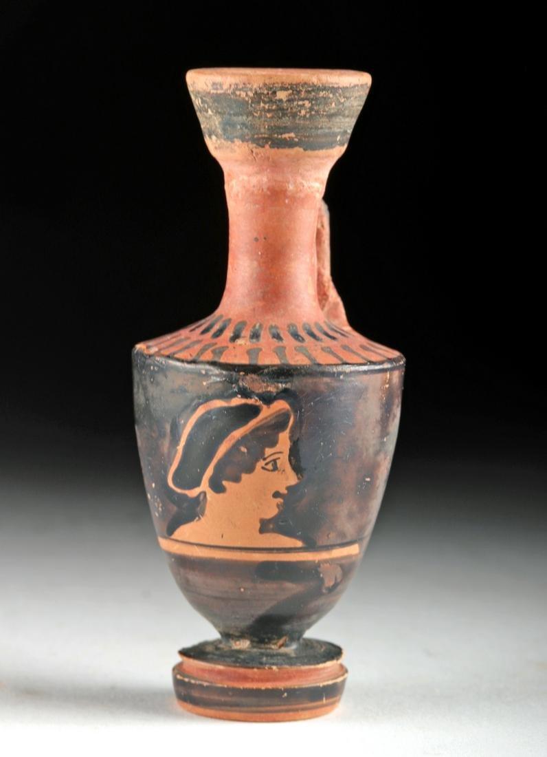Miniature Greek Attic Lekythos w/ Portrait of Maiden