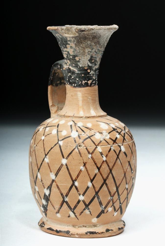 Greek Gnathian Pottery Net Lekythos