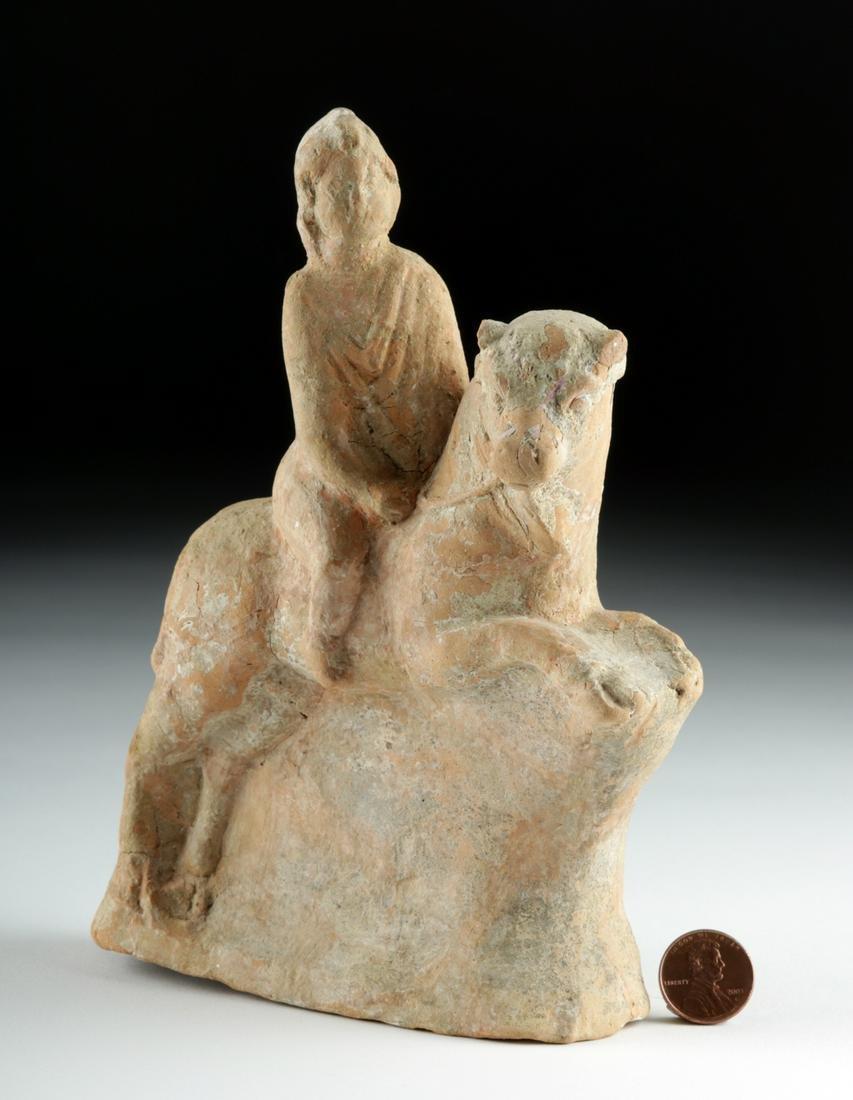 Rare Greek Terracotta Bull Rider, ex-Royal Athena
