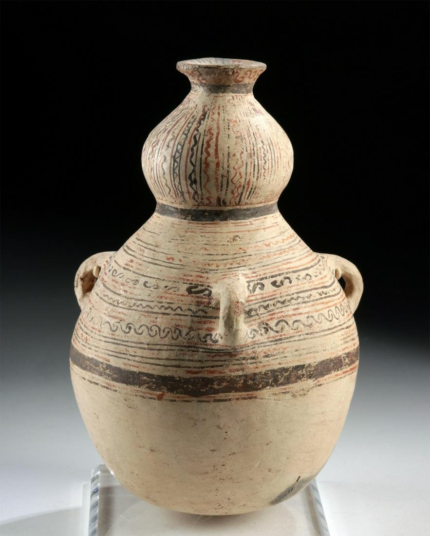 Rare Greek Daunian Pottery Two-Level Jar