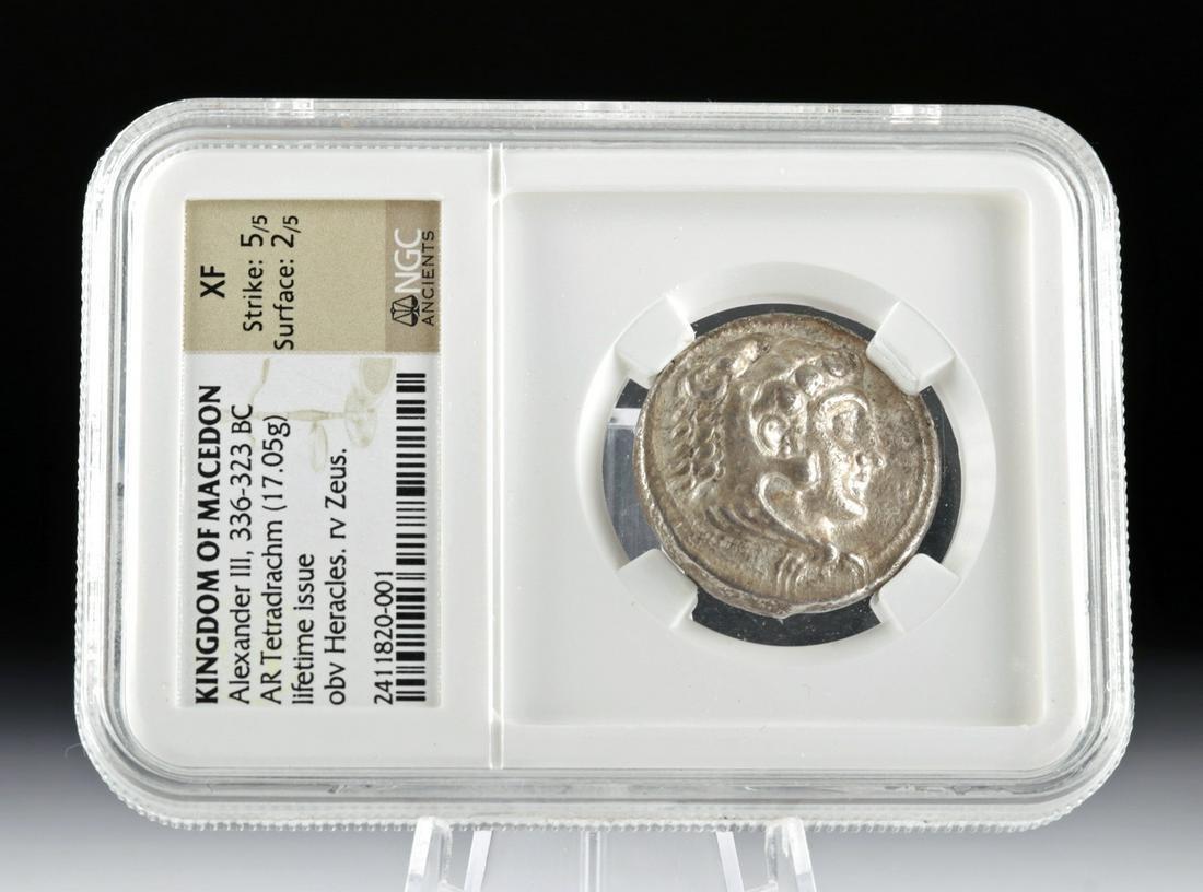 Macedonian Alexander III The Great Silver Tetradrachm