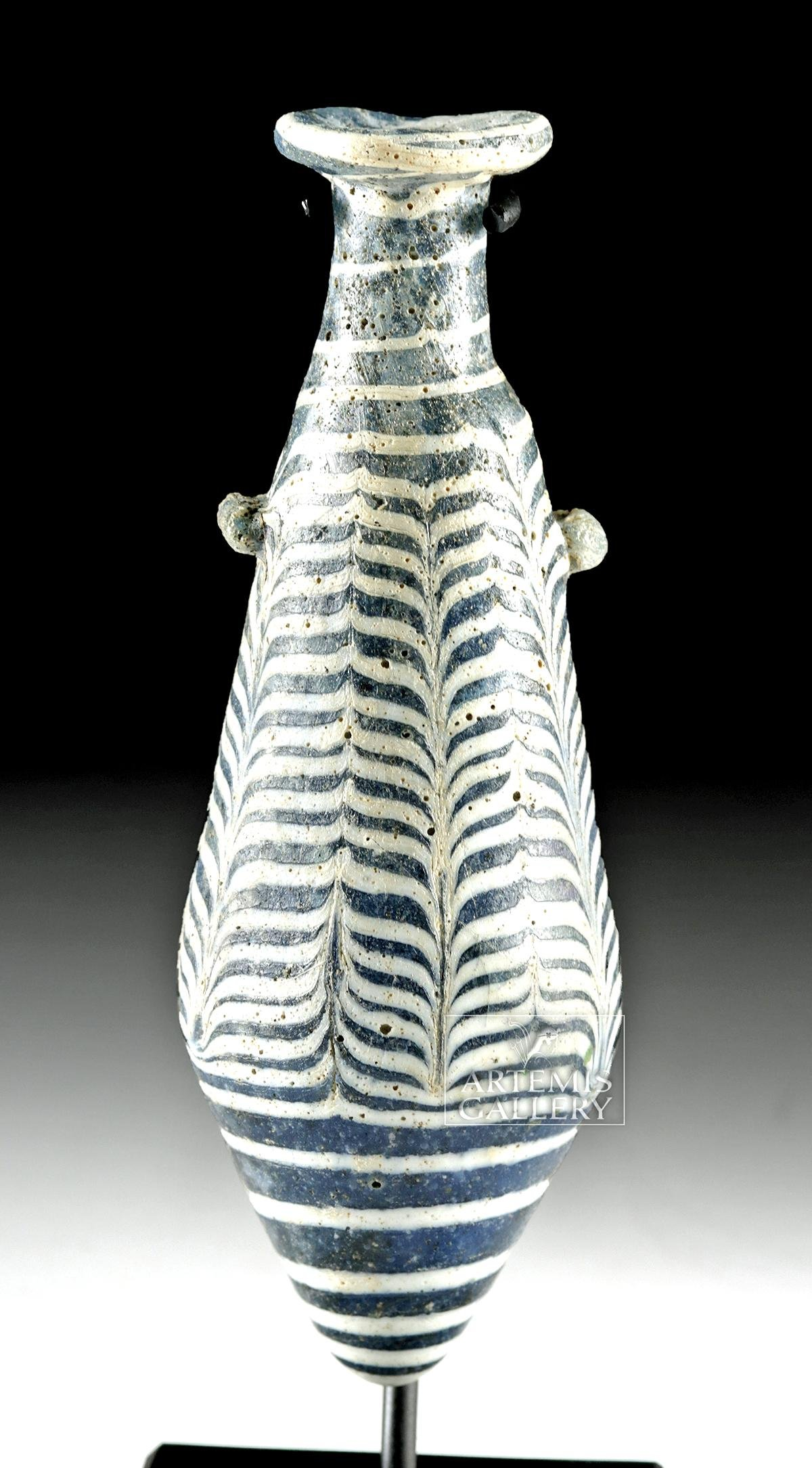 Greek Hellenistic Core Formed Glass Alabastron