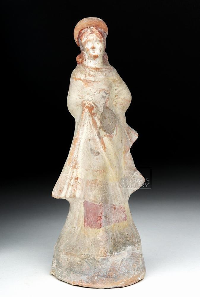 Greek Canosan Polychrome Female Figure, ex-Bonhams