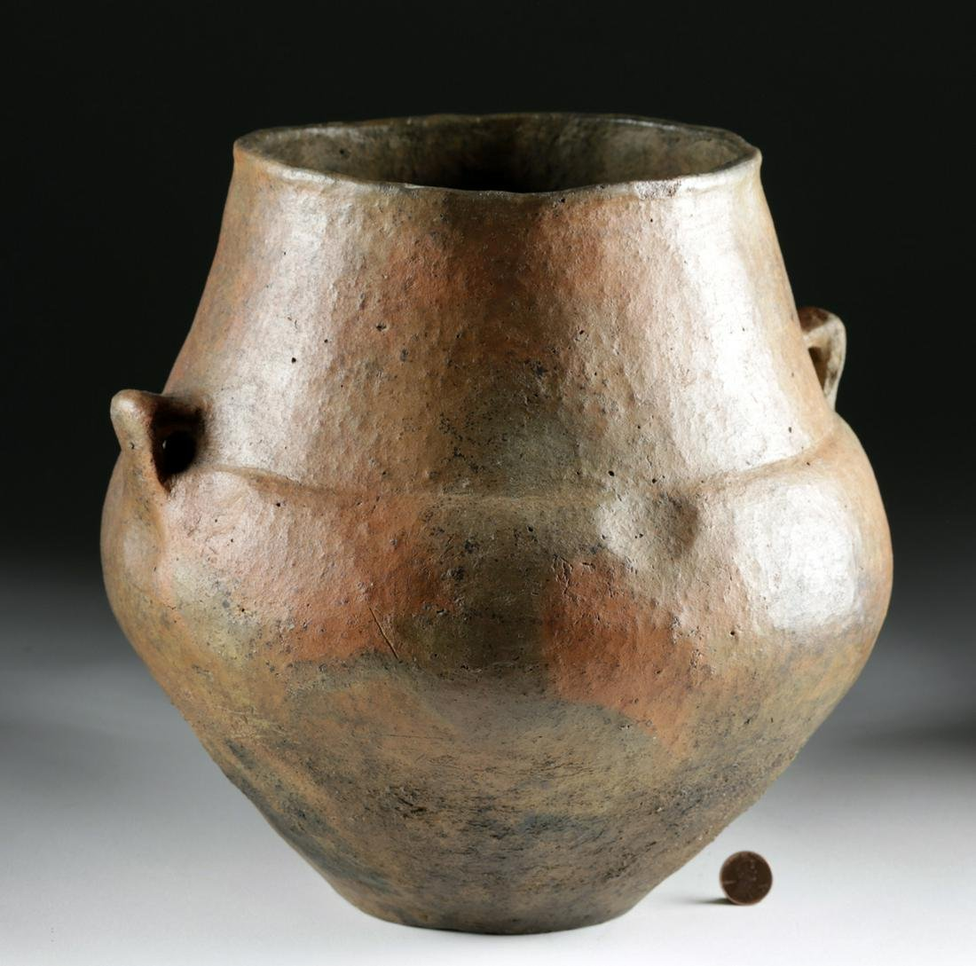 Rare Large European Bronze Age Burnished Pottery Olla