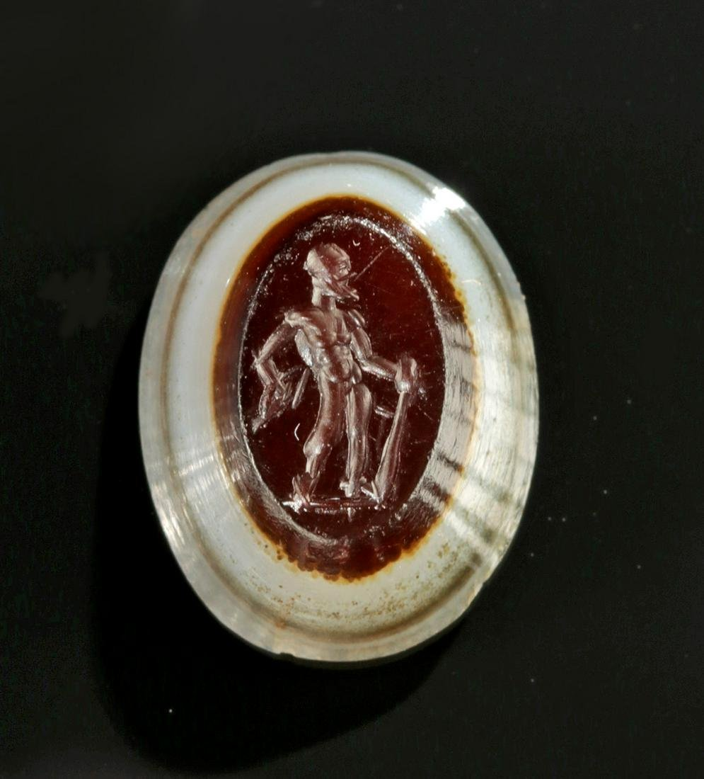 Roman Banded Agate Intaglio of Hercules
