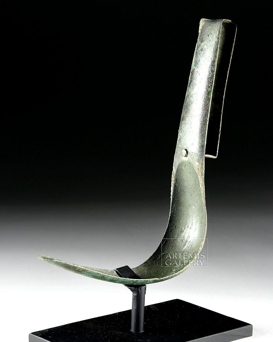 Near-Choice Roman Hammered Bronze Strigil