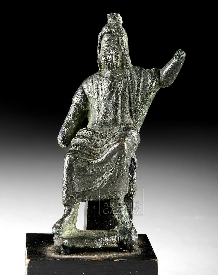 Roman Bronze Deity Figure - Serapis