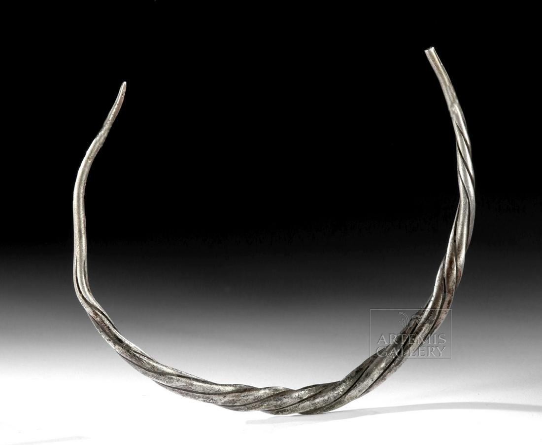 Viking Twisted Silver Torc - 85 g