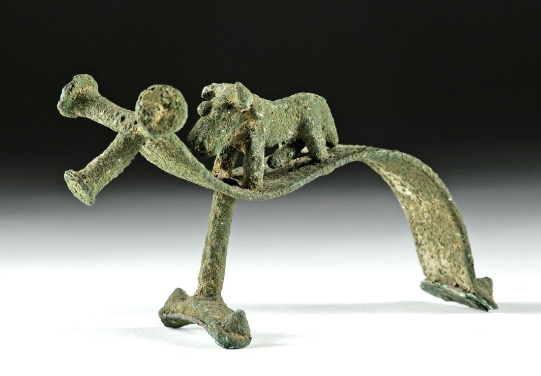 Amlash Bronze Handle w/ Bull Effigy