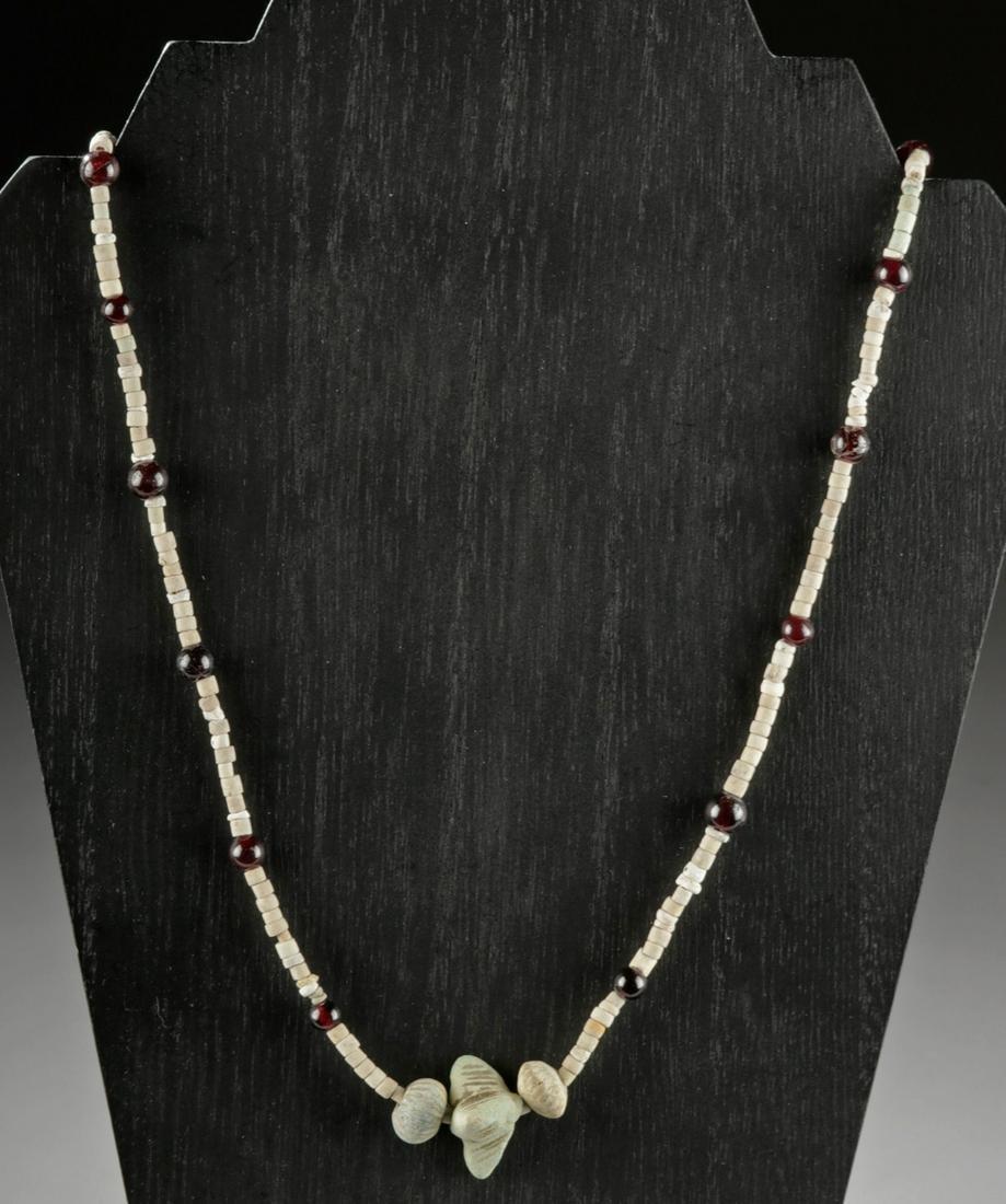 Sumerian Faience & Carnelian Bead Necklace