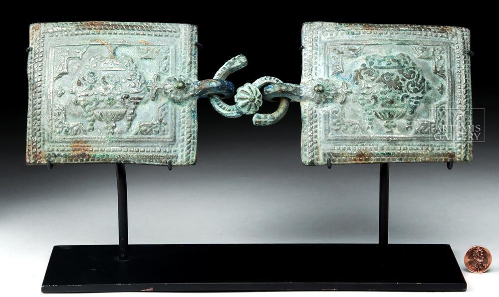 Sasanian / Islamic Bronze Buckle - Floral & Bird Motifs