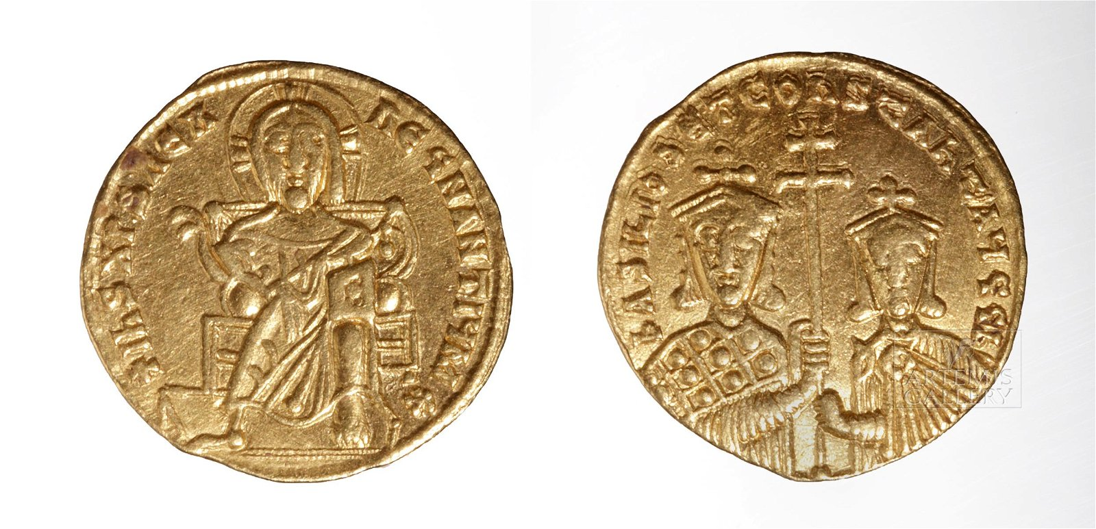 Byzantine Basil I Constantinople Gold Solidus - 4.3 g