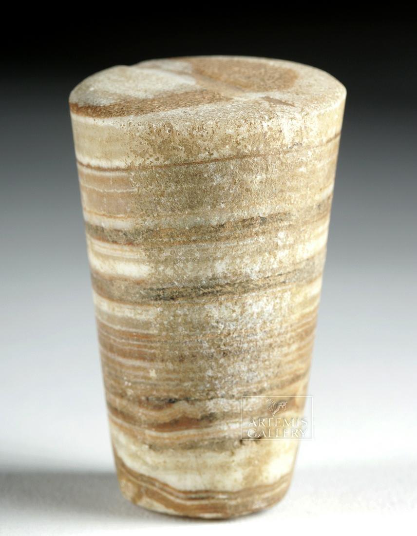 Rare Miniature Bactrian Marble Pillar Idol