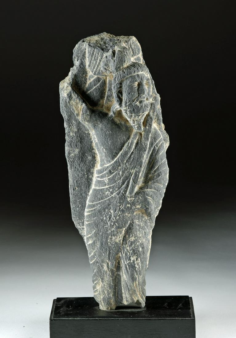 Gandharan Schist Figure of a Bearded Prince