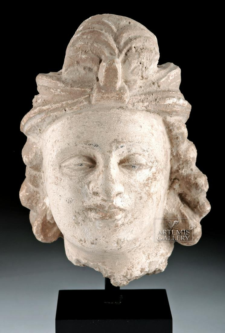 Gandharan Stucco Head of Prince, Graeco-Buddhist Style