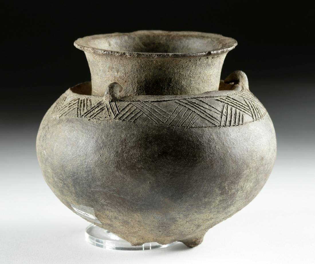 Rare Neolithic Indonesian Incised Pottery Vessel