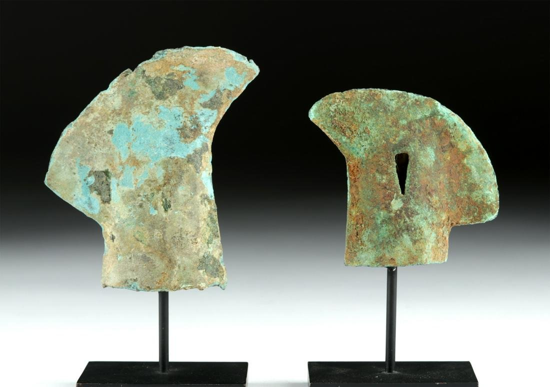 Vietnamese Dong Son Bronze Curved Axe Heads (2)