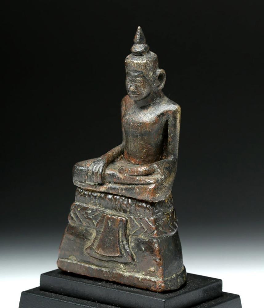 15th C. Khmer Angkor Bronze Seated Buddha