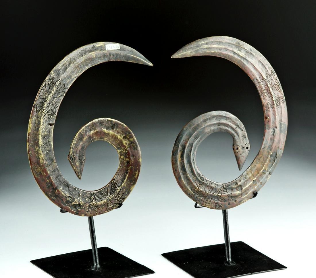 20th C. Sulawesi Toraja Sangori Bronze Ornaments (pr)