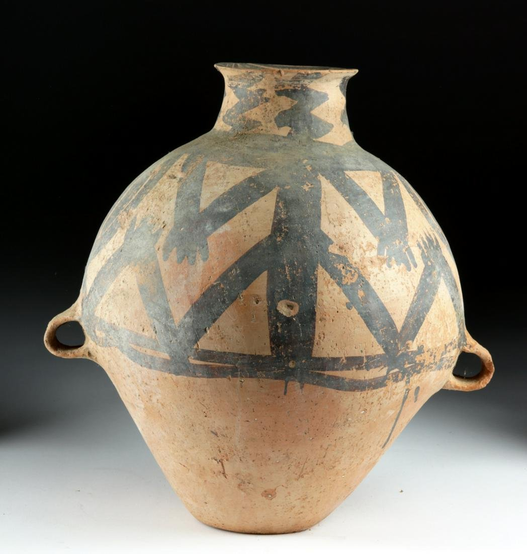 Large Chinese Neolithic Terracotta Painted Urn